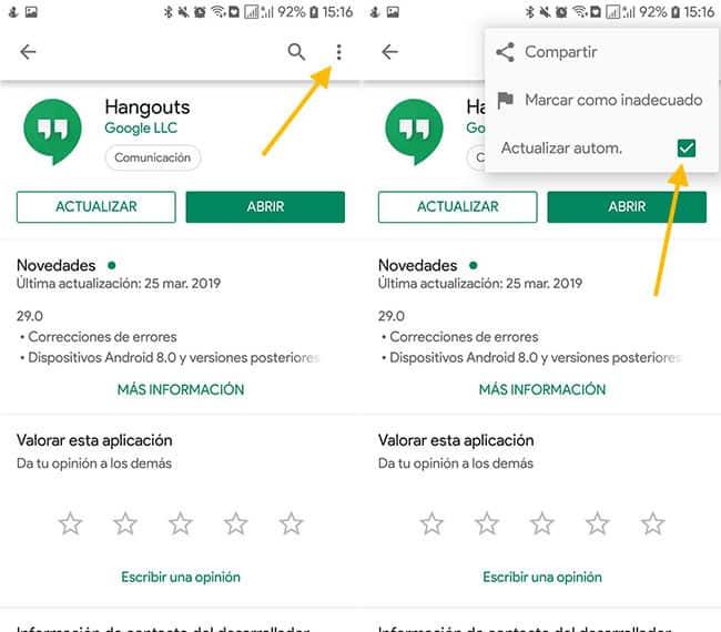 Desinstalar actualizaciones de una app en Android e iOS