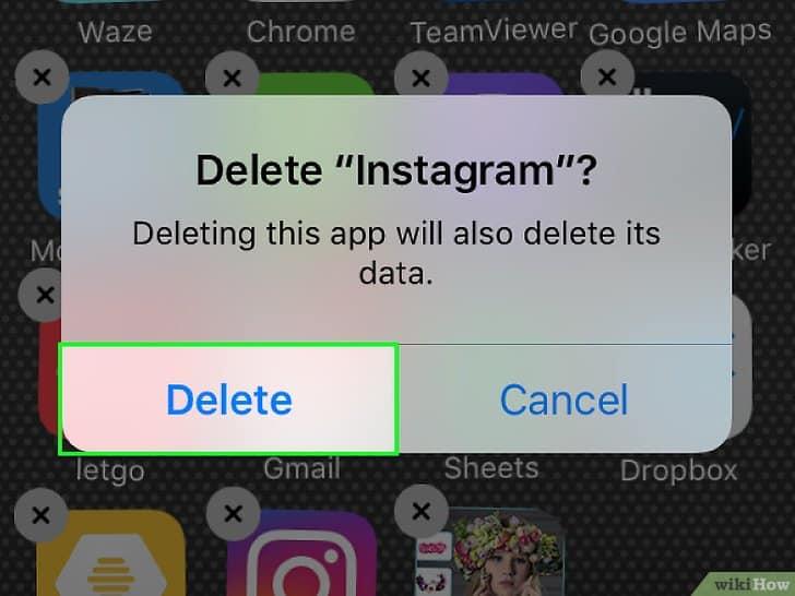 Desinstalar Instagram en iOS 3