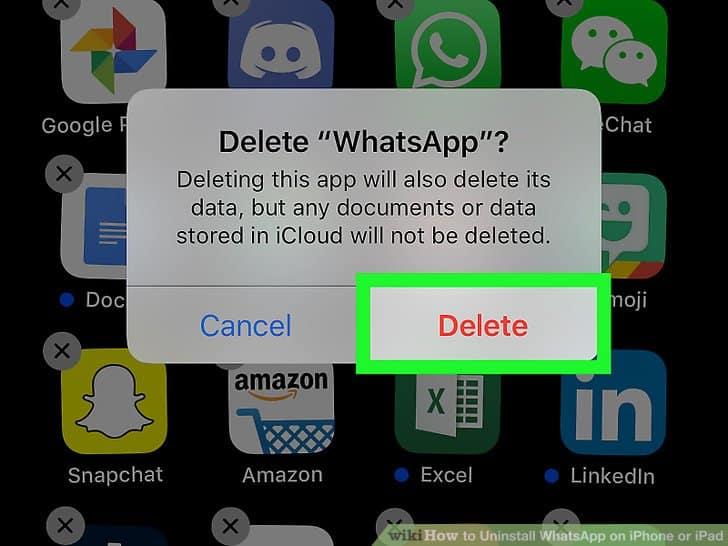 Desinstalar WhatsApp 4