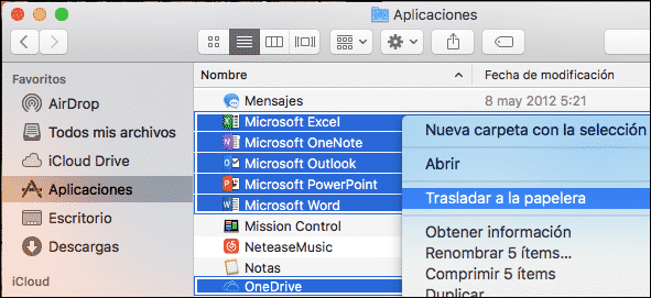 Desinstalar Word Mac
