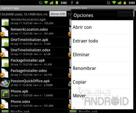 Eliminar apps de fábrica en Android