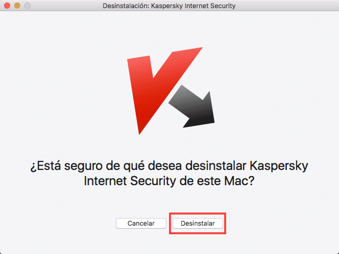 Desinstalar Kaspersky en Mac 2
