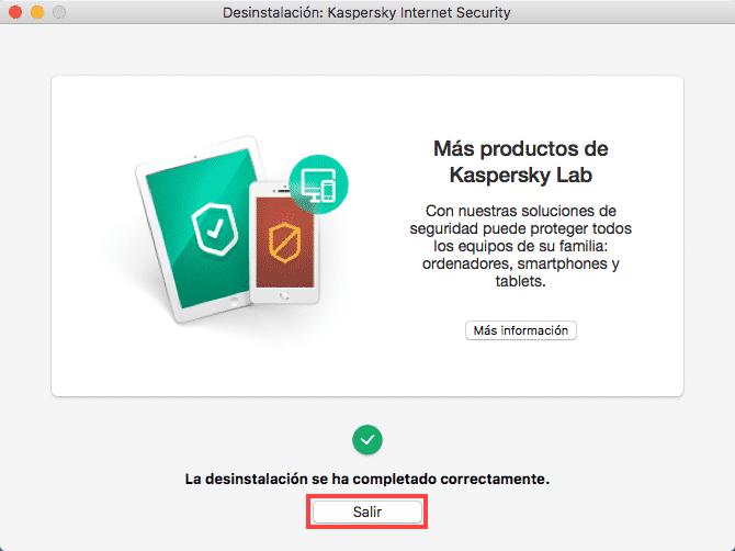 Desinstalar Kaspersky en Mac 5